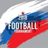 2018 Football Championship Symbol Stock Photo