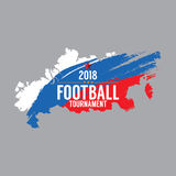 2018 Football Championship Symbol Stock Photography