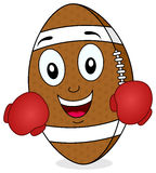 Football Character with Boxing Gloves Stock Image