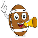 Football Character Holding Megaphone Royalty Free Stock Photos