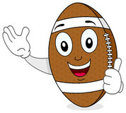 Football Character with Thumbs Up Royalty Free Stock Photos