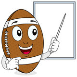 Football Character and White Board Royalty Free Stock Images