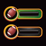 Football on checkered tabs Royalty Free Stock Photo