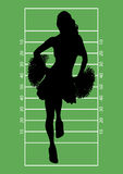 Football Cheerleader 1 Royalty Free Stock Photography