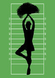 Football Cheerleader 3 Stock Photography