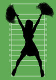 Football Cheerleader 6 Royalty Free Stock Image