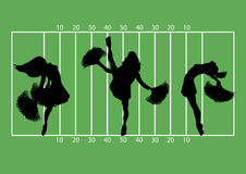 Football Cheerleaders 1 Stock Photography