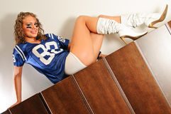Football Chick Stock Photos