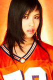 Football Chick Stock Images