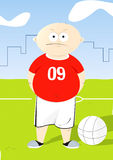 Football children 2. Drawing elf playing football 2 Stock Image