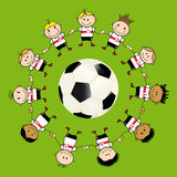 FootBall ChildrenTeam Stock Image