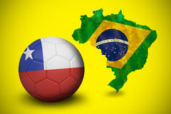 Football in chile colours Stock Images