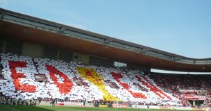 Football choreography Stock Images