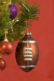 Football Christmas Ornament Stock Photography