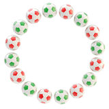 Football circle frame background isolated Stock Photos