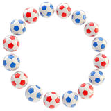 Football circle frame background isolated Stock Images