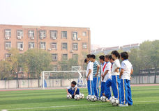 a football class Royalty Free Stock Images