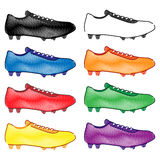 Football Cleats in Different Colours Style 2 Royalty Free Stock Image