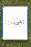 Football Clipboard with Play Diagram Royalty Free Stock Photos