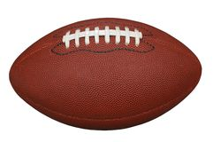 Football with Clipping Path Royalty Free Stock Photography