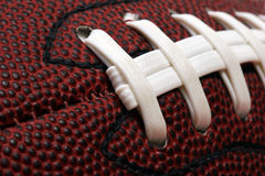 Football close-up. Macro image of american football Royalty Free Stock Photos