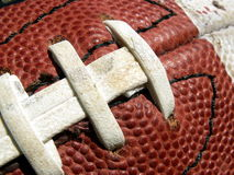 Football close-up. Close-up of an American football stock images