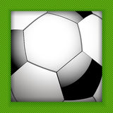 Football close up background Royalty Free Stock Photos