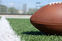 Football close up near the yard line Royalty Free Stock Image
