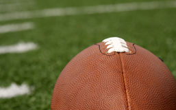 Football close up with yard lines Stock Images