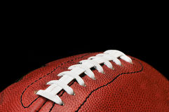 Football Closeup Isolated on Black Stock Photography