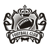 Football club. Authors illustration in vector Royalty Free Stock Images