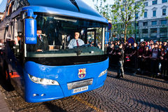 Football Club Barcelona bus Royalty Free Stock Photos