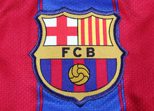 Football Club Barcelona Crest Stock Photos