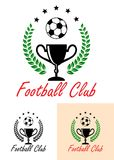 Football Club Championship emblem or icon Royalty Free Stock Photo
