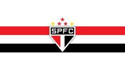 Football club illustration sao paulo brasil Stock Images