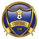 Football Club Shield & Round Combination stock image
