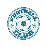 Football club stamp. Blue grunge rubber stamp with the word football written inside the stamp Royalty Free Stock Photo