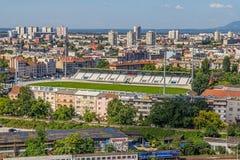 Football club Zagreb stadium Royalty Free Stock Image
