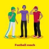 Football Coach Concept Flat Design Royalty Free Stock Photos