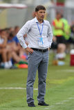 Football coach - Daniel Isaila Royalty Free Stock Images