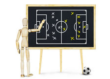 Football coach explains the plan for game Royalty Free Stock Images