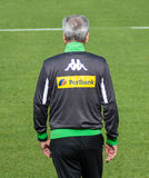 Football coach Lucien Favre in dress of Borussia Mönchengladbach Royalty Free Stock Photos