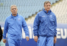 Football coaches Stock Images