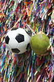 Football and Coconut Salvador Bahia Brazil Stock Image