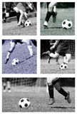 Football collage Royalty Free Stock Photography