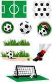 Football collection Stock Photo
