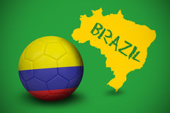 Football in colombia colours Royalty Free Stock Photo