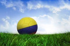 Football in colombia colours Royalty Free Stock Images