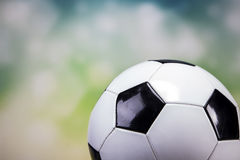 Football on colorful background Royalty Free Stock Image