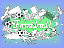 Football coloring book vector illustration Stock Photography